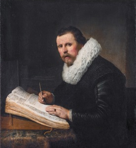 A man at a writing desk, by Rembrandt
